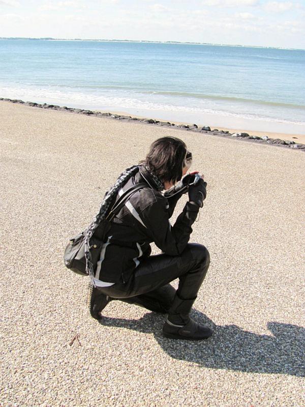 Foto's maken aan het strand