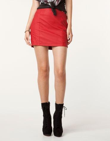 rok rood leatherlook