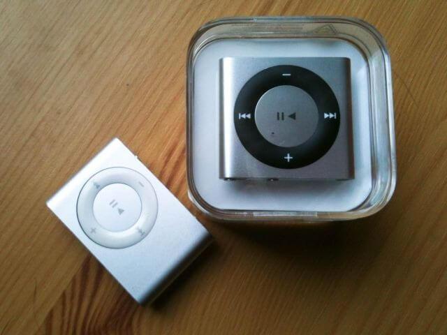 Nieuwe en oude iPod Shuffle