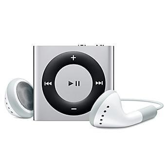 Zilverkleurige iPod Shuffle