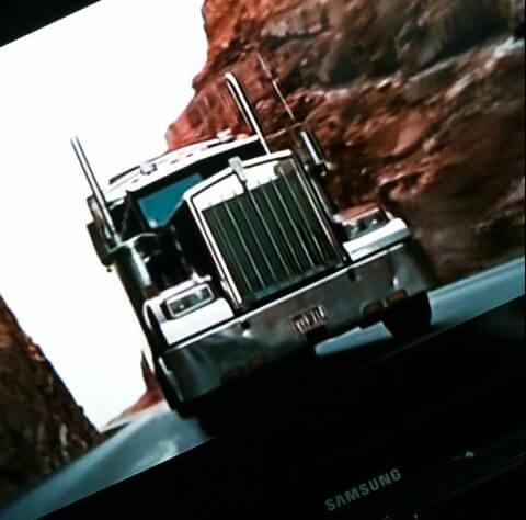 Stoere vrachtwagen in de film