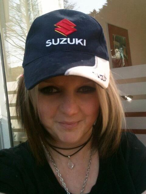 Ik met Suzuki-pet