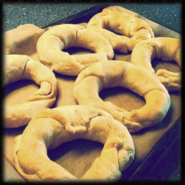Zelfgebakken croissants
