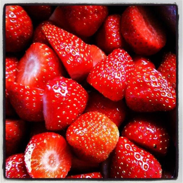 Lekkere aardbeien!