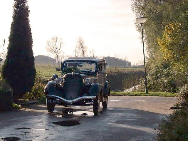 Klassieke auto in Andel