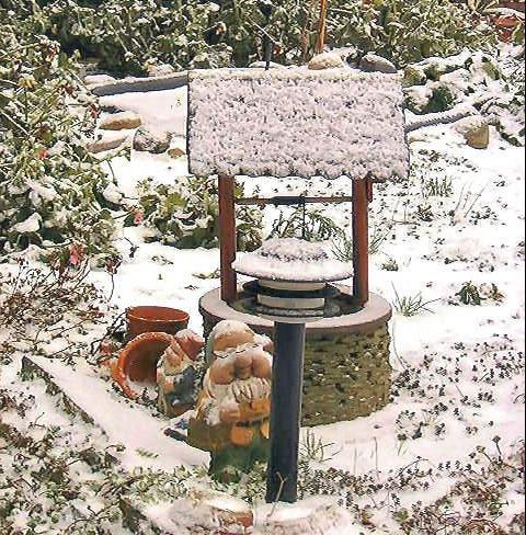 Wensput in de tuin