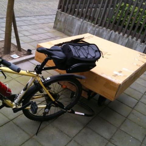 Bank op de fietskar