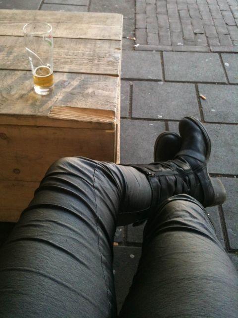 Biertje drinken