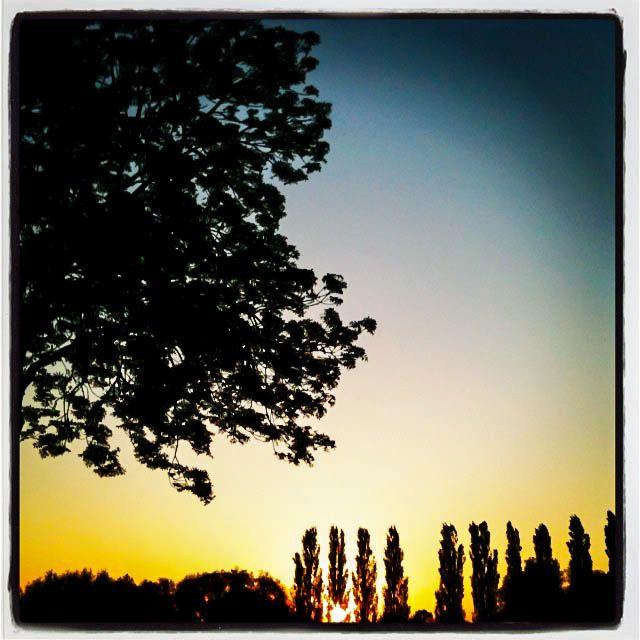 Zonsondergang in Woudrichem