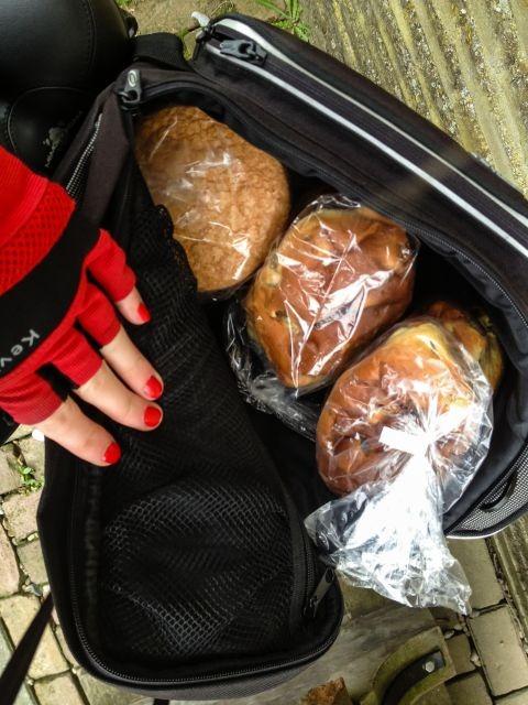 Broodjes gekocht onderweg