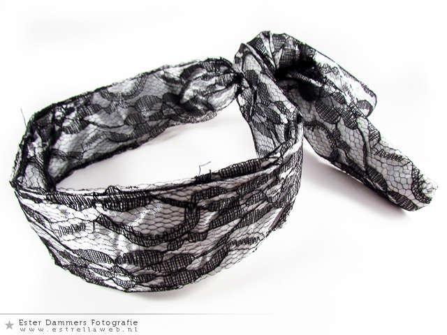 Zilverkleurige haarband