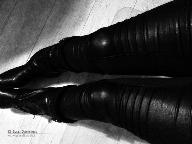 Leatherlook broek