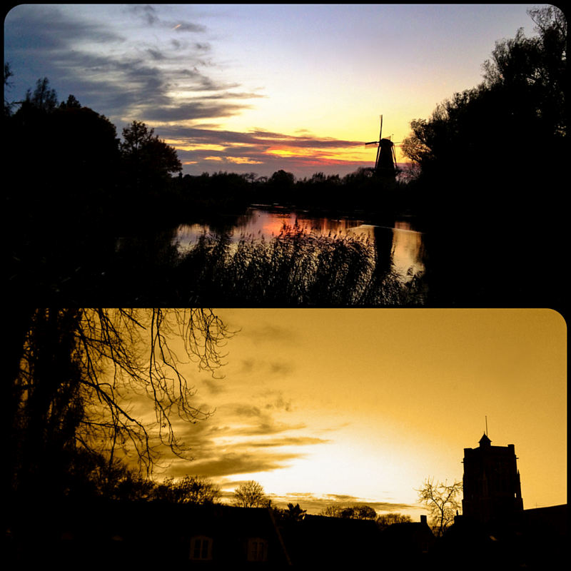 Woudrichem zonsondergang collage