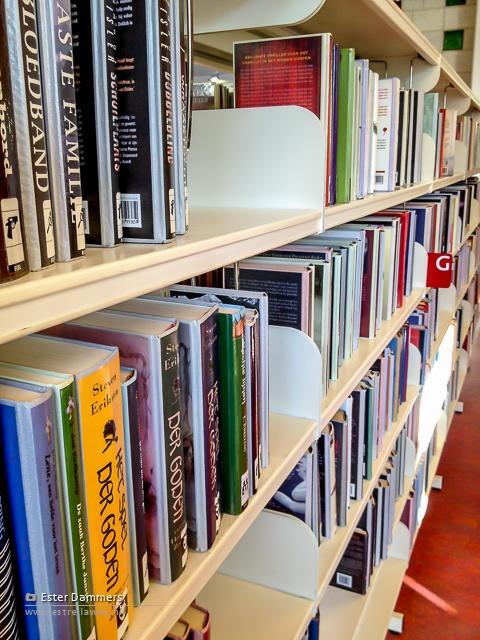 Boeken uitzoeken in de bieb