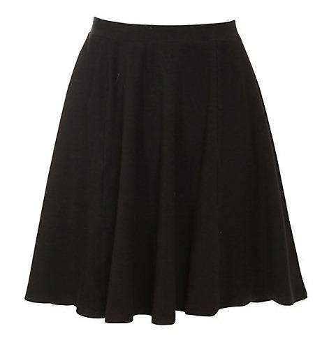 Zwarte skater-skirt