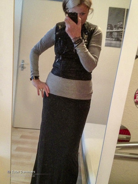 Outfit met maxi-rok