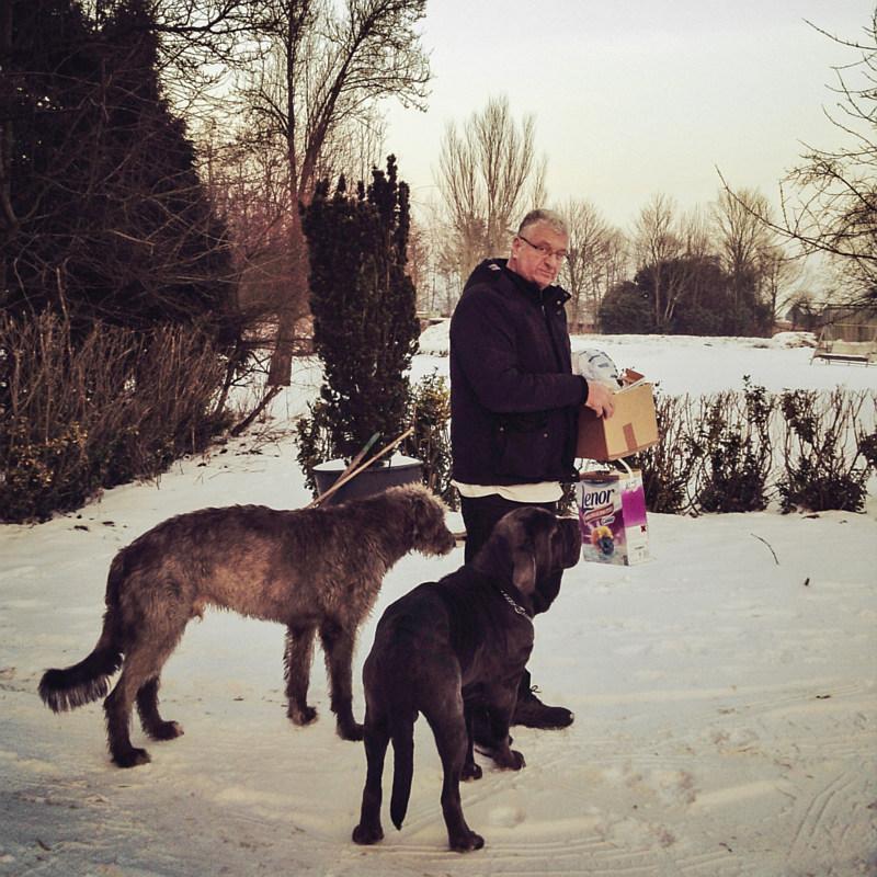 M'n vader met z'n honden