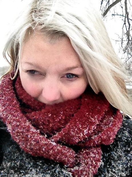 Ik na een sneeuw-wandeling