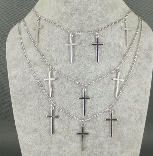 Layer ketting met kruisjes