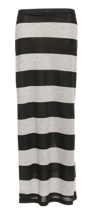 Grijs met zwart gestreepte rok