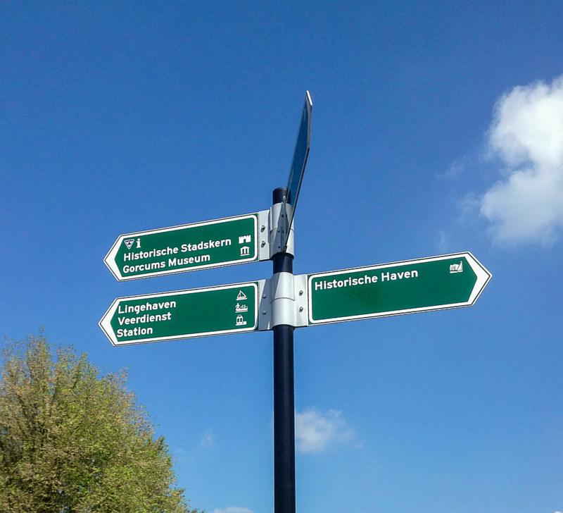 Wegwijzers in Gorinchem
