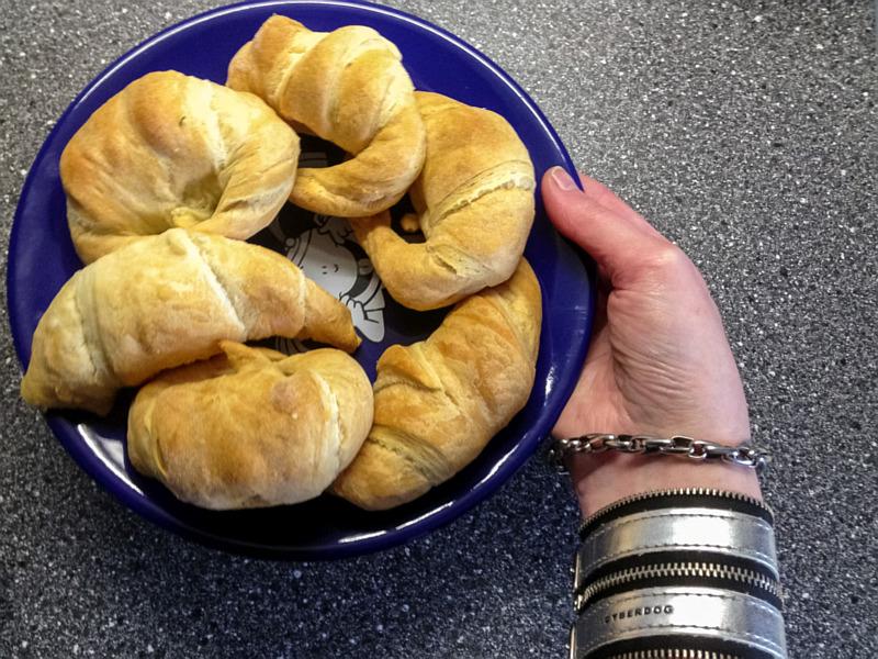 Croissantjes gebakken