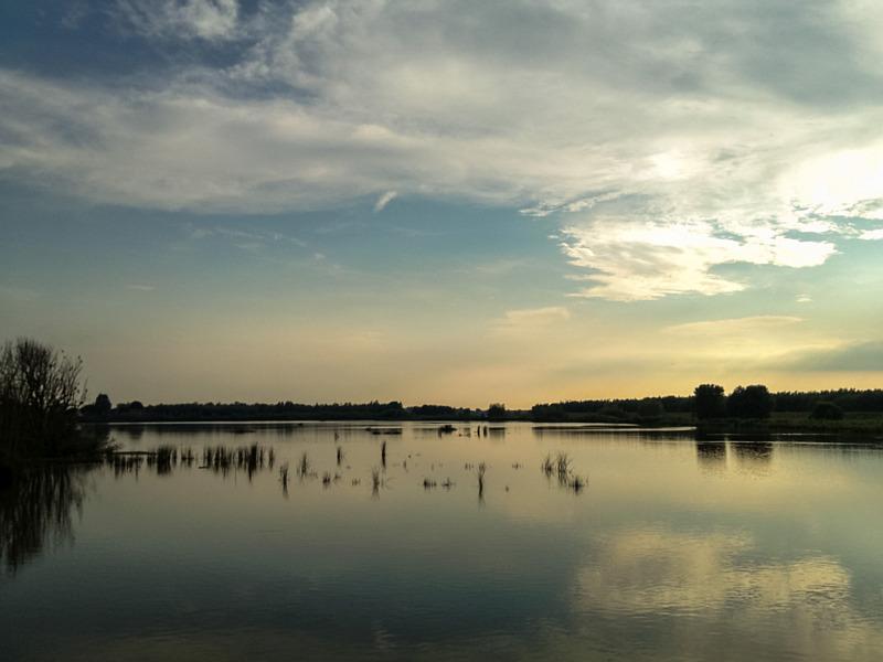 Mooie lucht in de Biesbosch