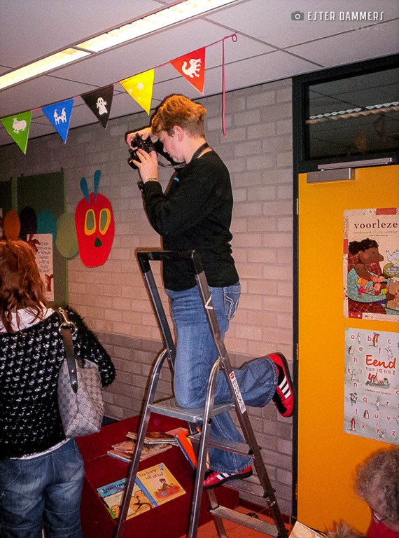 Fotograferen in de bieb (31-1-2007)
