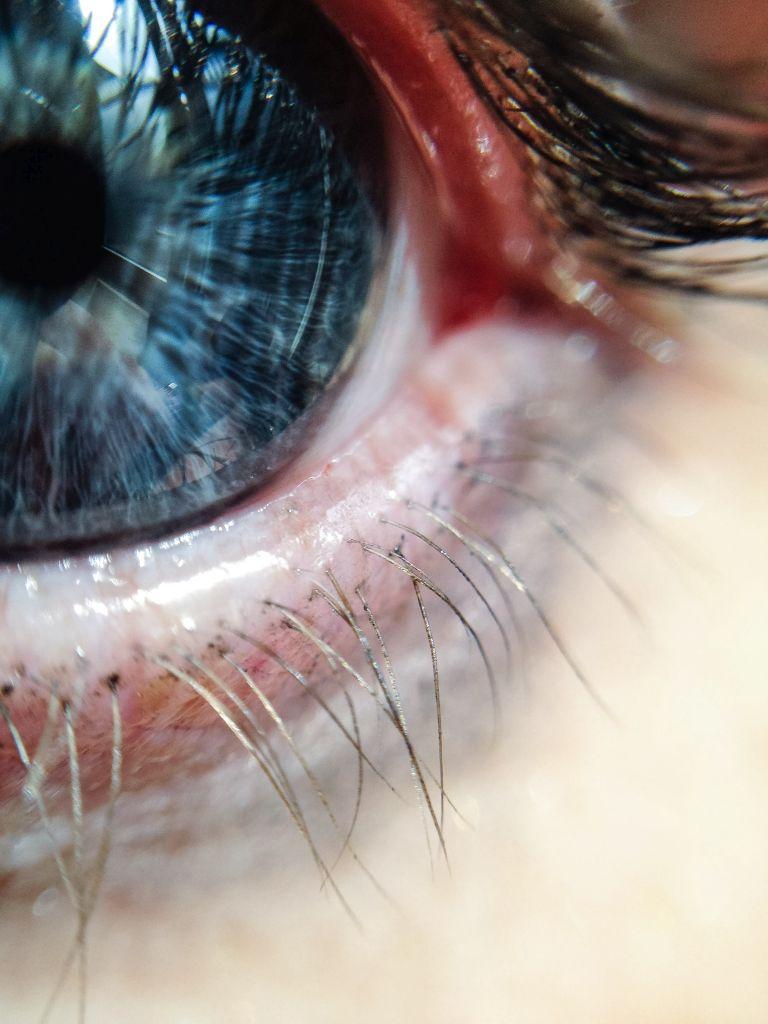 Close-up van mijn oog
