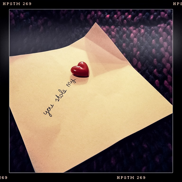 Briefje met een hartje