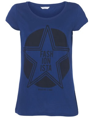 blauw ONLY shirt met print