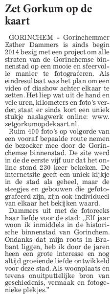 Artikel De Stad Gorinchem