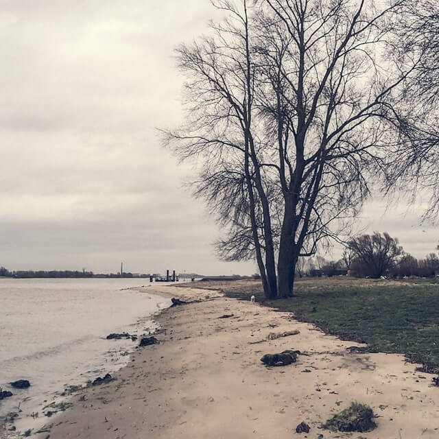 Strandje bij Slot Loevestein