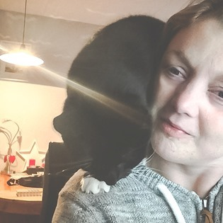 Molly op m'n schouder