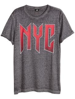 Grijs t-shirt met rode print