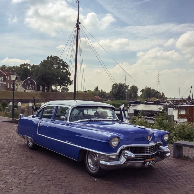 Blauw Cadillac
