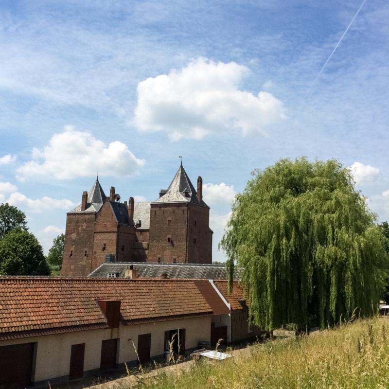 Slot Loevestein vanaf de vestingwal