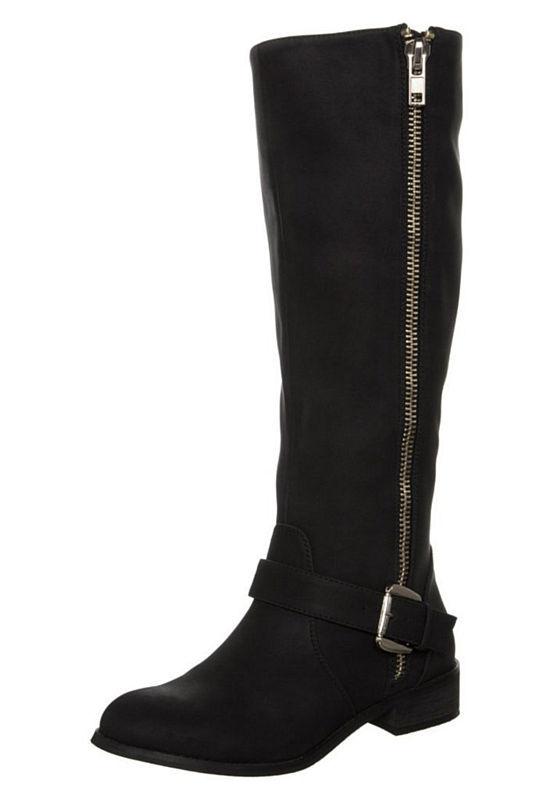 Zwarte laarzen met rits