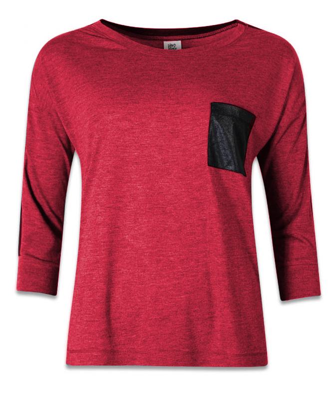 Rood Vero Moda shirt met borstzakje