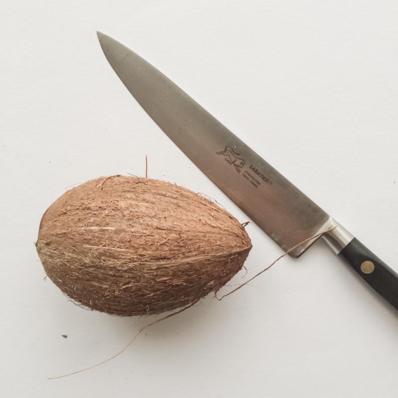 Kokosnootje slachten
