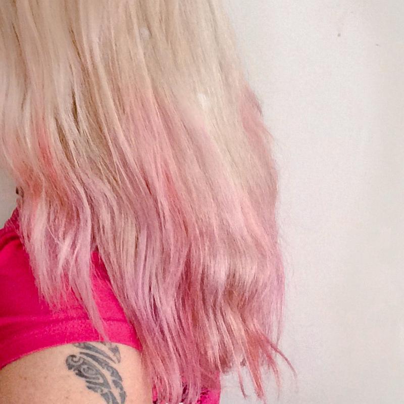 Roze ombre hair