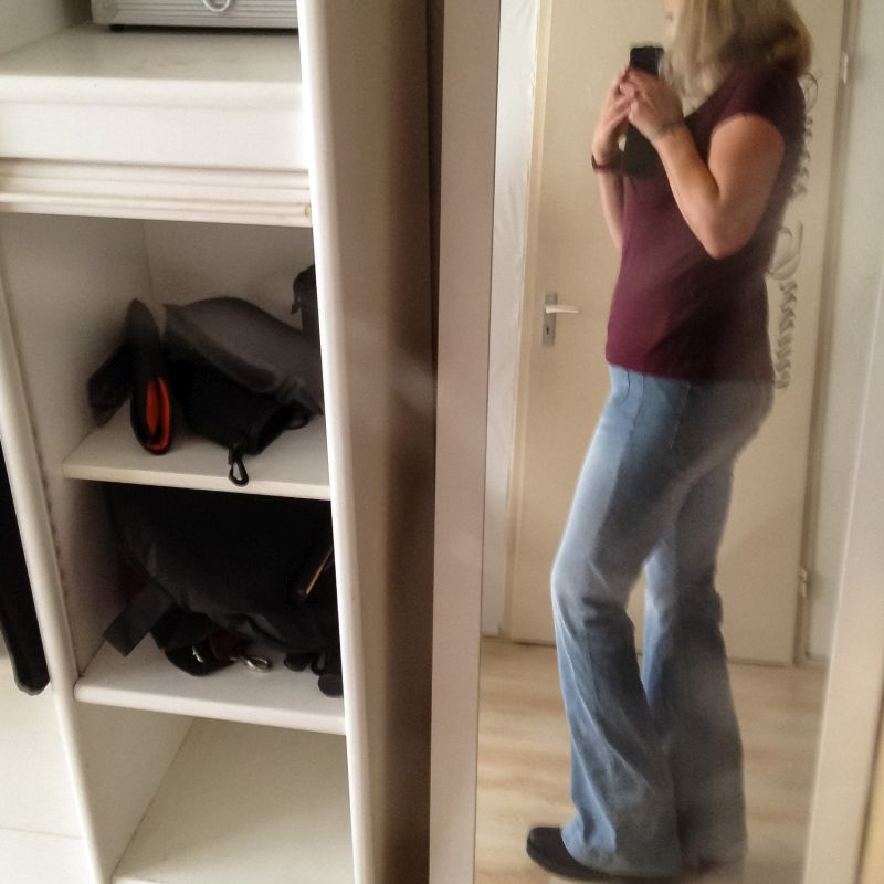 Love my flared jeans!