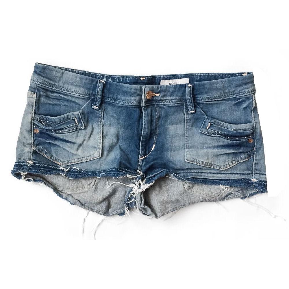 Gerafelde jeansshorts