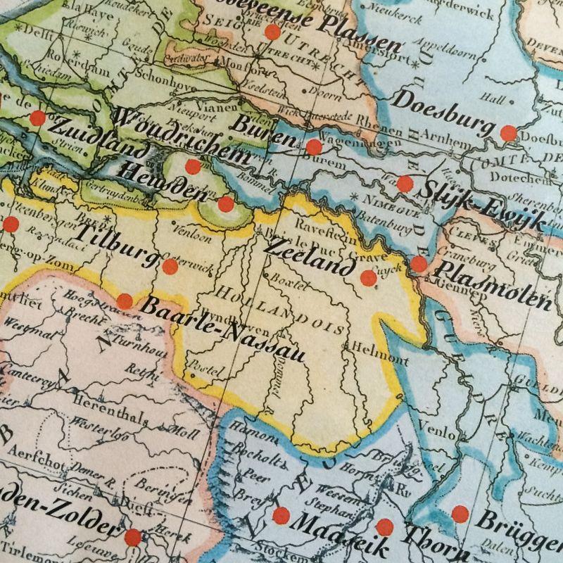 Landkaart placemat