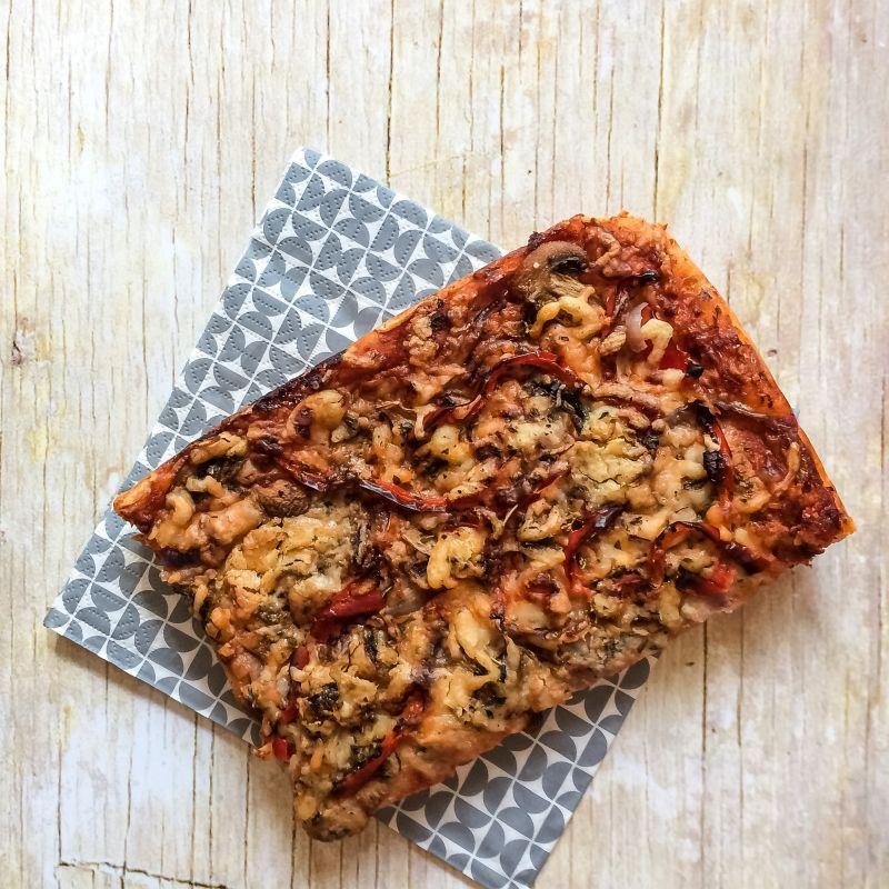 Rechthoekige pizza