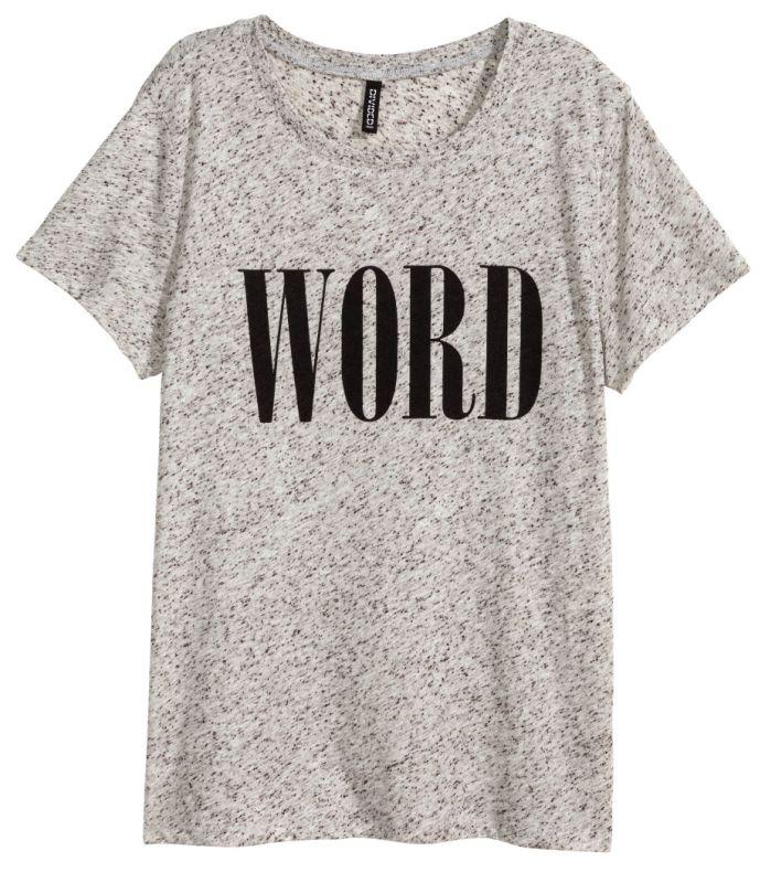 Grijs shirt met tekstprint - H&M