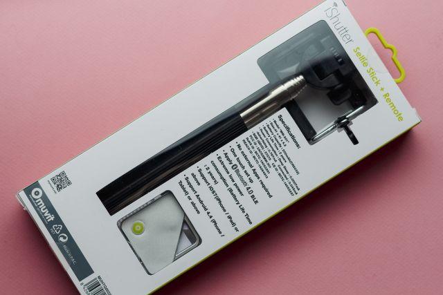 Selfie-stick in de verpakking