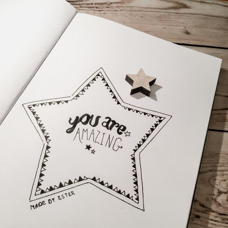 Tekst met een ster
