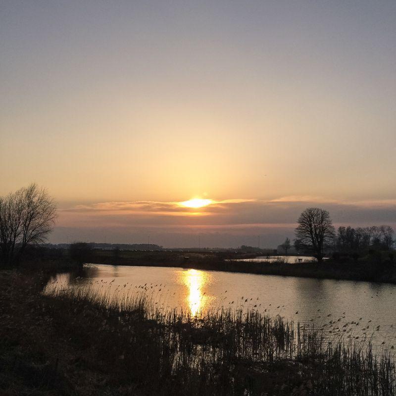 Zonsondergang in Oudendijk