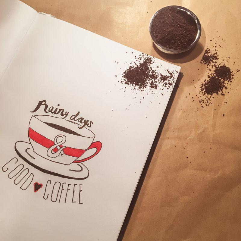 Koffie handlettering